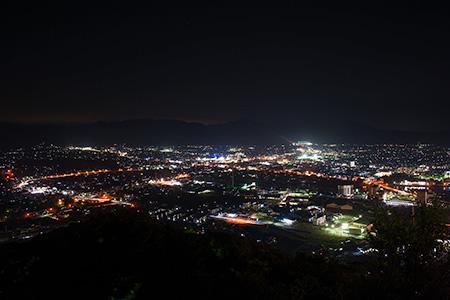奥萩展望台 萩本陣旅館の夜景