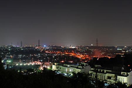 おくやま公園の夜景