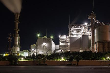 サミットエスパワー小名浜発電所の夜景
