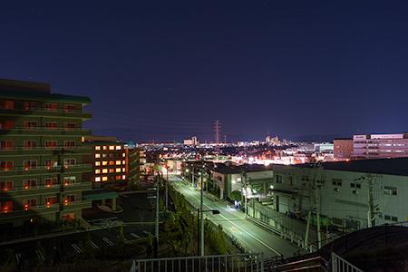 尾根緑道の夜景