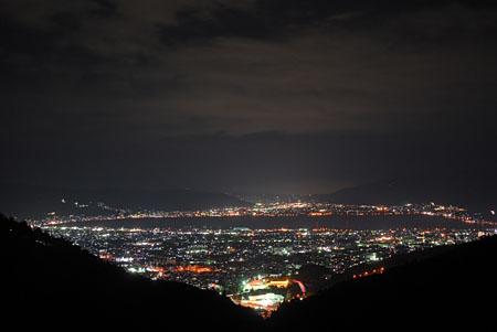 塩嶺御野立公園の夜景