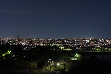 大高緑地 展望台の夜景