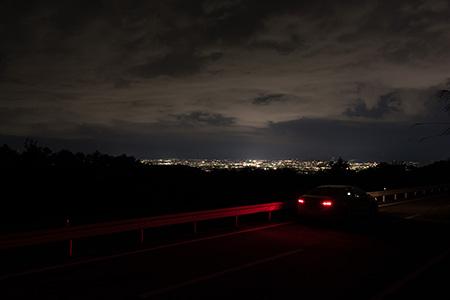 境川町大黒坂の夜景