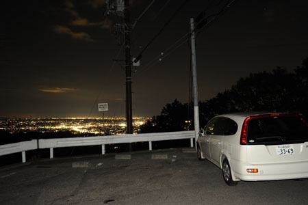 太平山神社の夜景