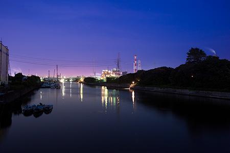 大川橋の夜景