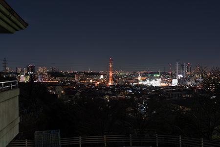 大倉山公園の夜景