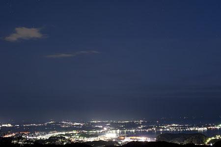 大楠山展望台の夜景