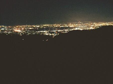 大峰山の夜景