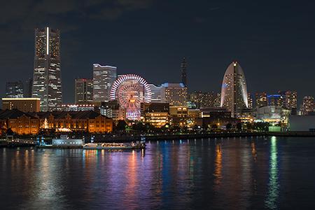 横浜港 大さん橋の夜景
