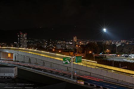 大津SA(下り)の夜景