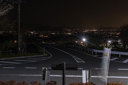 大津谷梅園の夜景