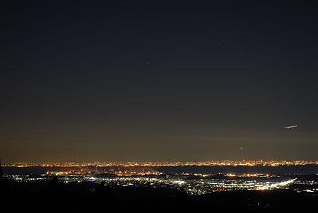 大塚屋旅館前の夜景