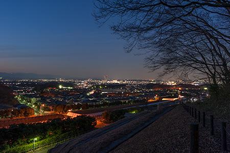 大塚山公園 絹の道の夜景