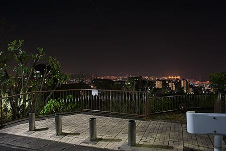 大月台北公園の夜景