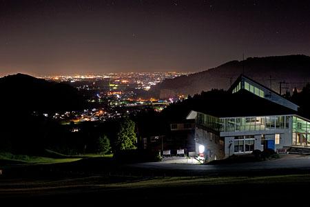 大鰐国際スキー場の夜景