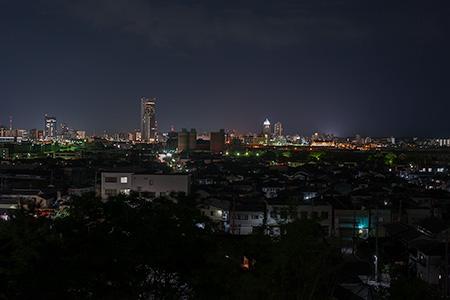 大山台公園の夜景