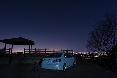 大山祇神社駐車場 展望台の夜景