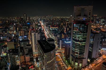 大阪駅前 第3ビルの夜景
