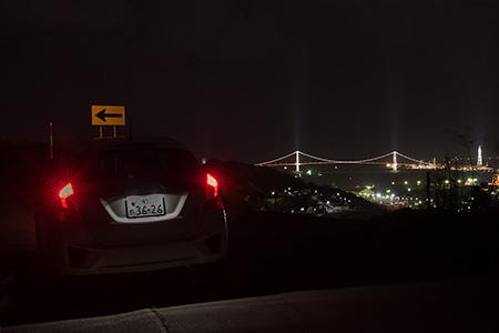大沢町・室蘭観光道路の夜景