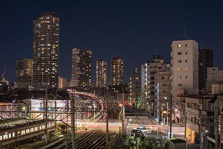 押上駅前自転車駐車場屋上広場の夜景