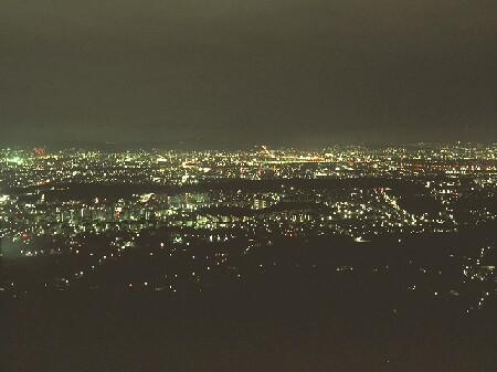 小塩山の夜景