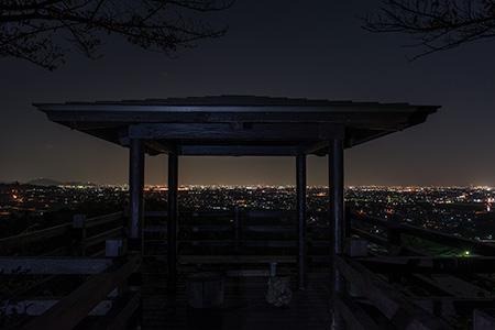 大谷スカイライン 野村山展望台の夜景
