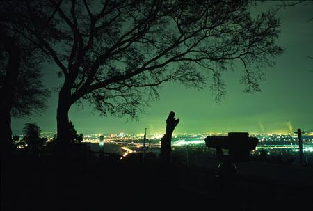 男山展望台の夜景