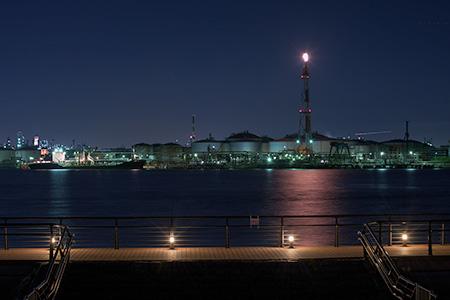 東扇島東公園の夜景