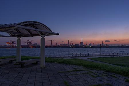 東扇島西公園の夜景