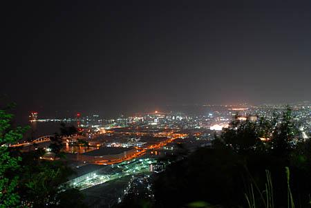 黄金山の夜景