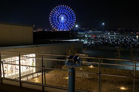 三井アウトレットパーク 木更津 オーシャンビューテラスの夜景