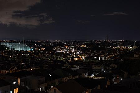王禅寺見晴し公園の夜景