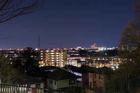 小山白山公園の夜景