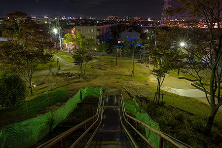 おゆみ野南公園の夜景