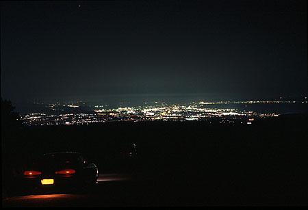 パイロットの夜景