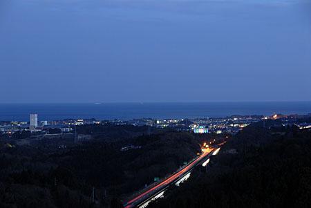 十王パノラマ公園の夜景