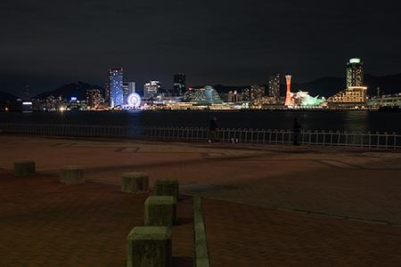 ポートアイランド北公園の夜景
