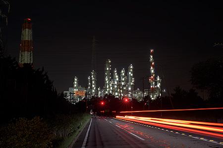 県道117号線の夜景