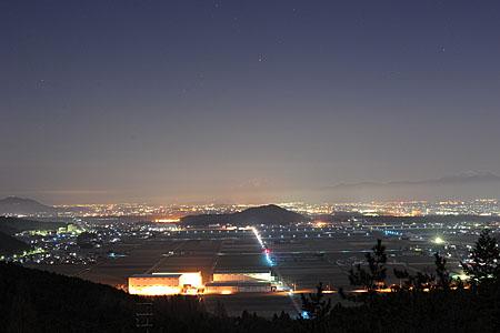 黎明の里の夜景