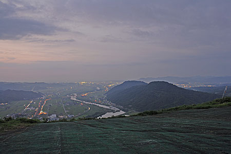 霊石山の夜景