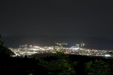 牧山 零羊崎神社近くの夜景