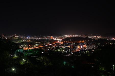 蓮華寺・室蘭観光道路の夜景