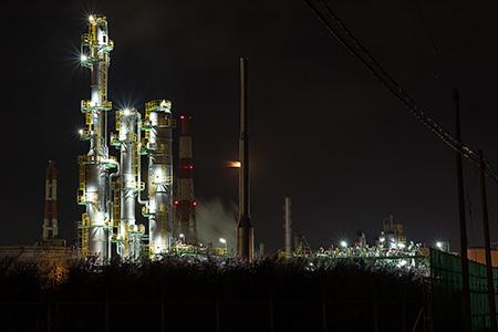 臨海南道の夜景