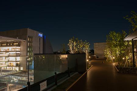 二子玉川ライズ ルーフガーデン青空デッキの夜景