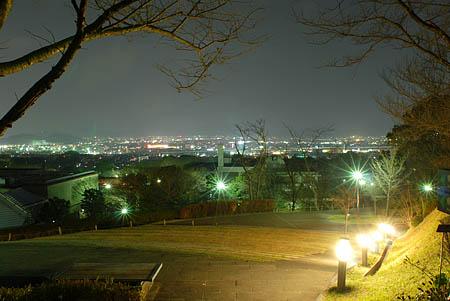 ロダンの丘の夜景