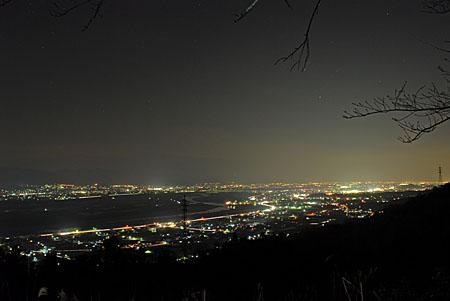 六地蔵展望台の夜景