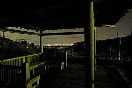 六呂瀬山古墳(竹田山)の夜景