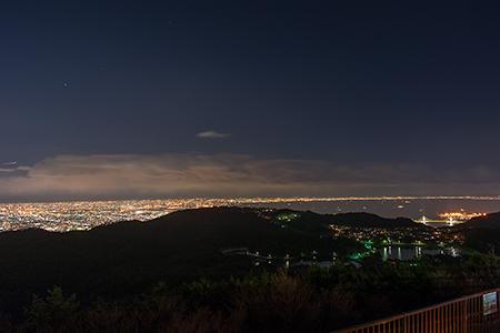 芦有ドライブウエイ 東六甲展望台の夜景