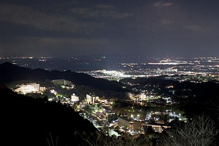 芦有ドライブウエイ 有馬展望台の夜景