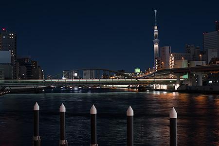 両国橋の夜景